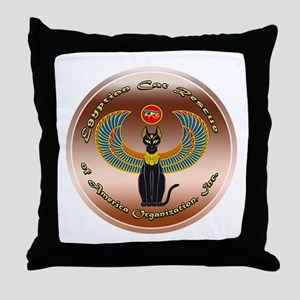 Egyptian Cat Rescue Organization of A Throw Pillow