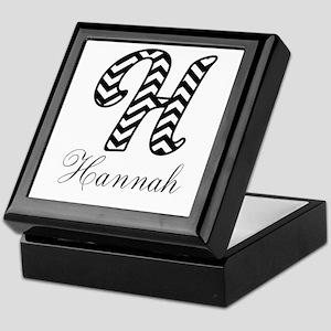 Monogram H Your Name Custom Keepsake Box