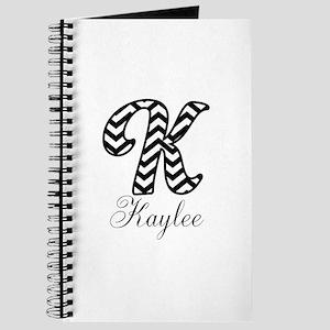 Monogram K Your Name Custom Journal