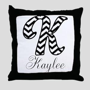 Monogram K Your Name Custom Throw Pillow