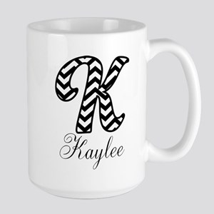 Monogram K Your Name Custom Mugs