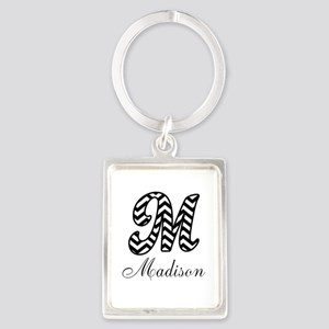 Monogram M Your Name Custom Keychains
