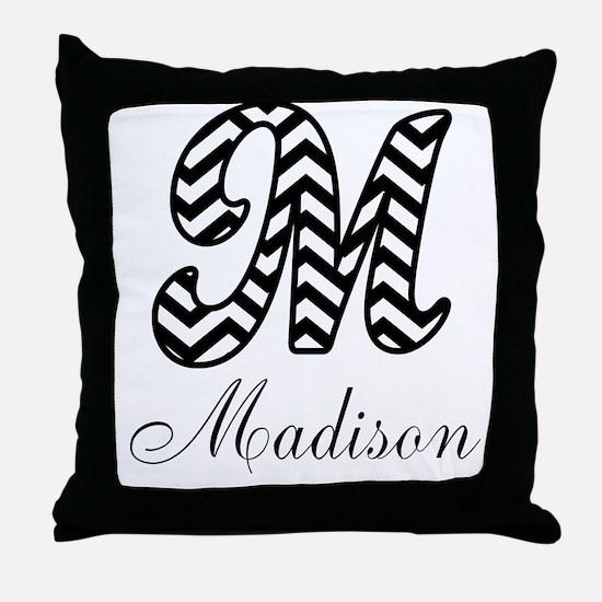 Monogram M Your Name Custom Throw Pillow