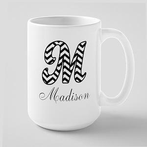 Monogram M Your Name Custom Mugs