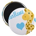 Personalizable Blue Baby Giraffe Magnets