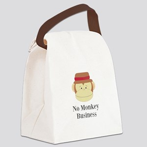 No Monkey Business Canvas Lunch Bag