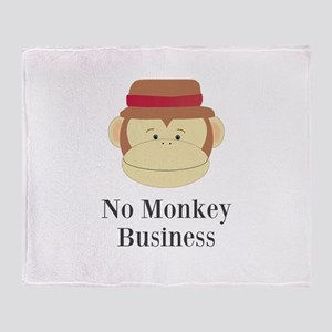 No Monkey Business Throw Blanket