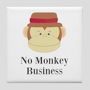 No Monkey Business Tile Coaster