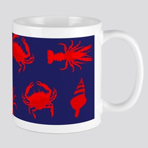 Bayou Red and Blue Mugs