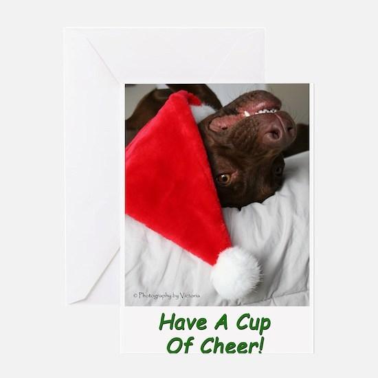 Funny Labrador retriever christmas Greeting Card