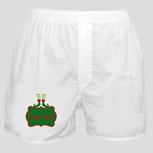 Personalizable Christmas Elf Feet Boxer Shorts