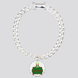 Personalizable Christmas Elf Feet Bracelet
