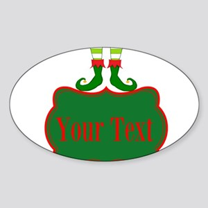 Personalizable Christmas Elf Feet Sticker