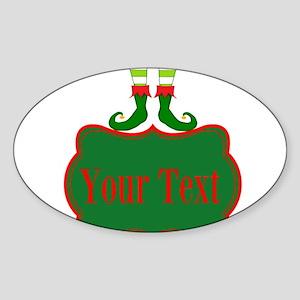 Personalizable Christmas Elf Feet Sticker
