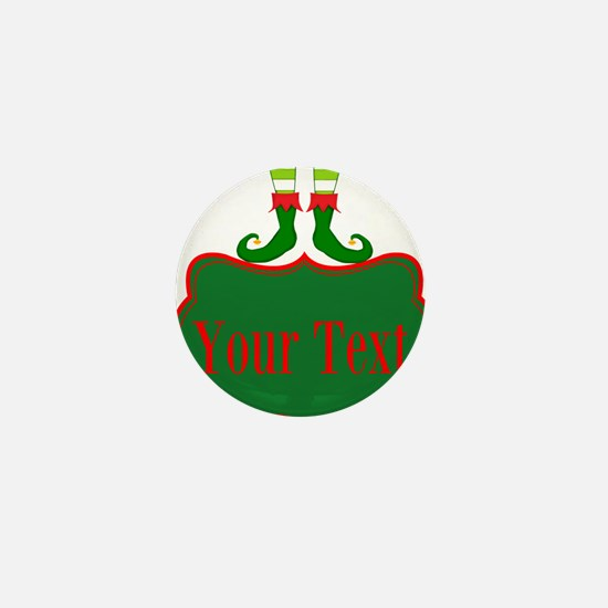 Personalizable Christmas Elf Feet Mini Button (100