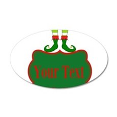 Personalizable Christmas Elf Feet Wall Decal