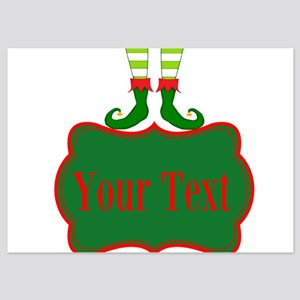Personalizable Christmas Elf Feet Invitations