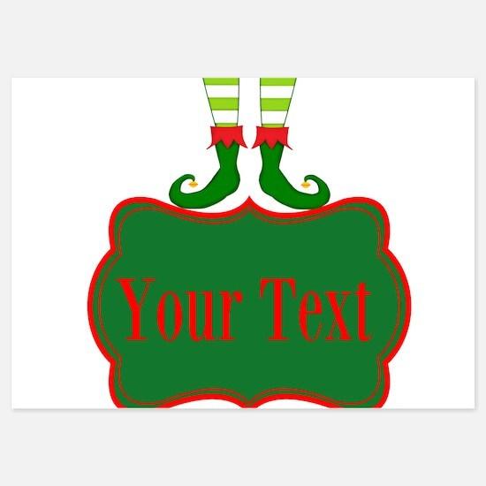 Personalizable Christmas Elf Feet Invitations