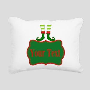 Personalizable Christmas Elf Feet Rectangular Canv