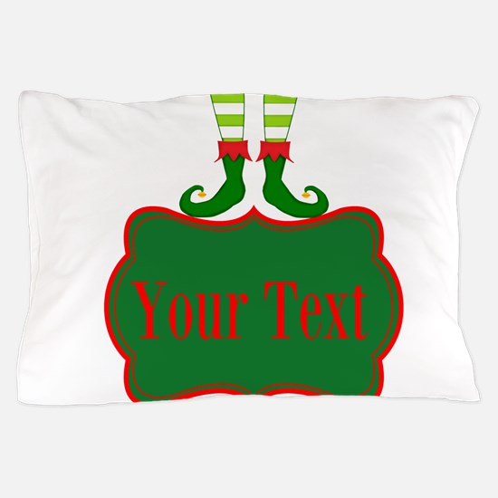 Personalizable Christmas Elf Feet Pillow Case