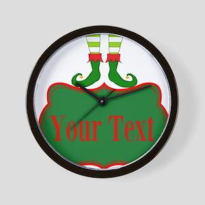 Personalizable Christmas Elf Feet Wall Clock