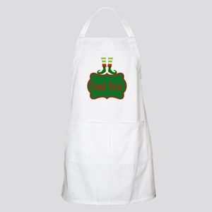 Personalizable Christmas Elf Feet Apron