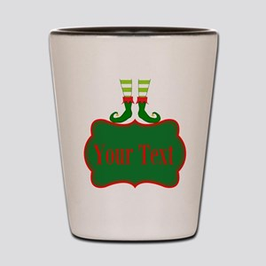 Personalizable Christmas Elf Feet Shot Glass