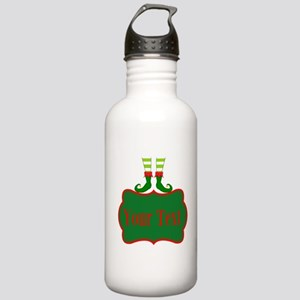 Personalizable Christmas Elf Feet Water Bottle