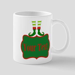 Personalizable Christmas Elf Feet Mugs