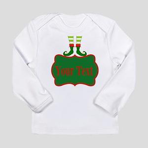 Personalizable Christmas Elf Feet Long Sleeve T-Sh