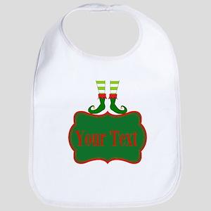 Personalizable Christmas Elf Feet Bib