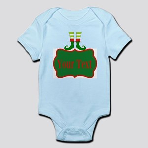 Personalizable Christmas Elf Feet Body Suit