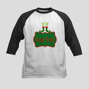 Personalizable Christmas Elf Feet Baseball Jersey