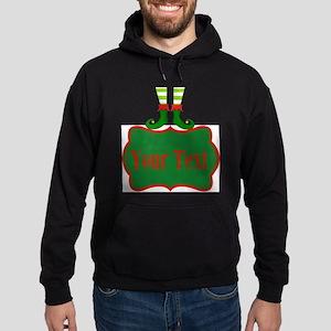 Personalizable Christmas Elf Feet Hoodie