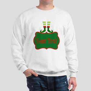 Personalizable Christmas Elf Feet Sweatshirt