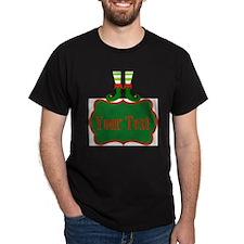 Personalizable Christmas Elf Feet T-Shirt