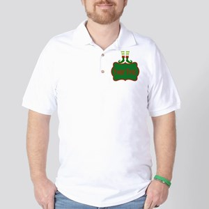 Personalizable Christmas Elf Feet Golf Shirt