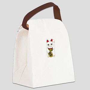 maneki-nekoWhite Canvas Lunch Bag