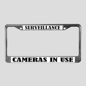 Funny Surveillance Camera License Plate Frame