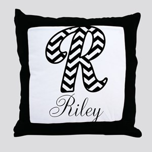 Monogram R Your Name Custom Throw Pillow
