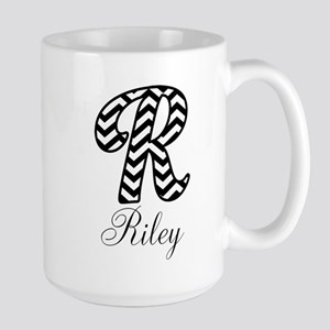 Monogram R Your Name Custom Mugs