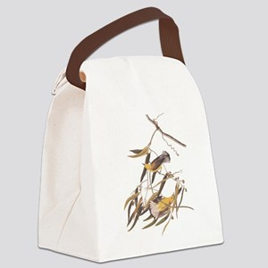 Audubon Warbler (no Text) Canvas Lunch Bag