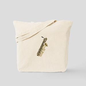 baritonesax-goldB Tote Bag