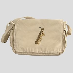 baritonesax-goldB Messenger Bag
