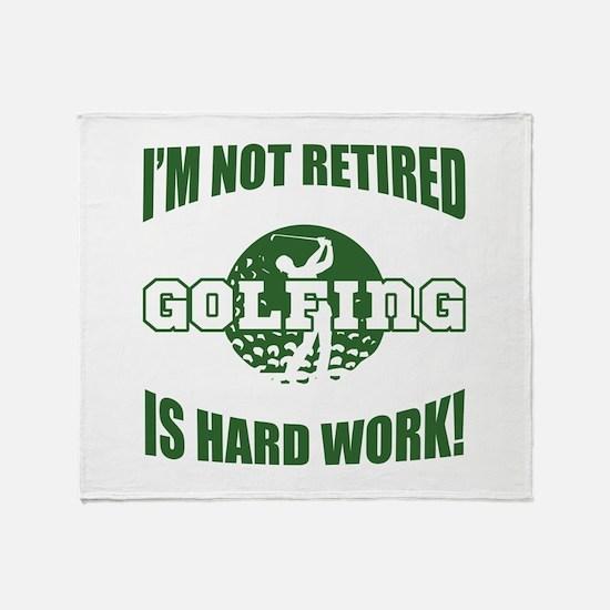 Retired Golf Lover Throw Blanket