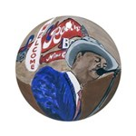 New Orleans Blues Ornament (Round)