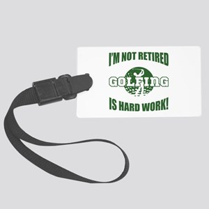 Retired Golf Lover Large Luggage Tag
