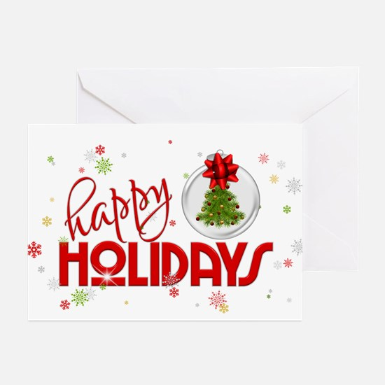 Red Snowflakes Greeting Cards