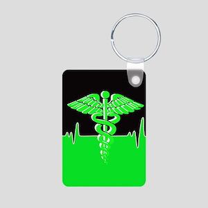 Medical Heart Beat Aluminum Photo Keychains