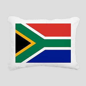 South Africa Flag Rectangular Canvas Pillow